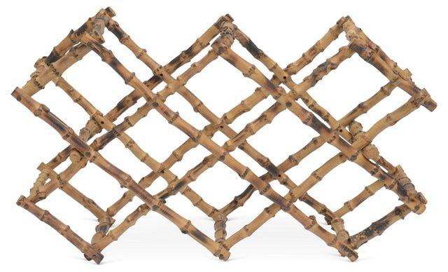 Faux-Bamboo Wine Rack