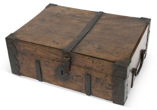 19th-C. Wood Box