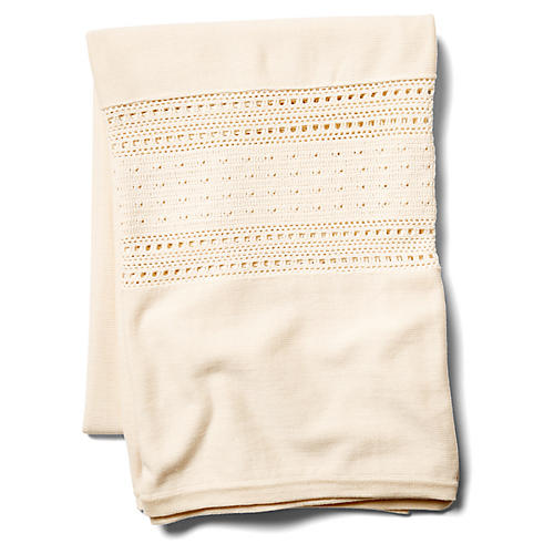 Acara Cotton Throw, Cream
