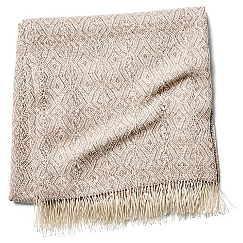 Colca Alpaca Throw, Sand/Cream