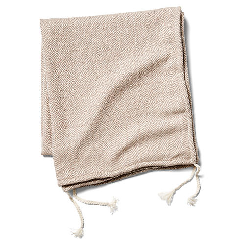Wasi Alpaca Throw, Taupe/Cream