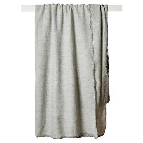 Camino Alpaca Throw, Silver