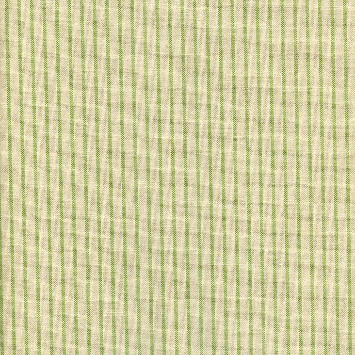 Mini Stripe Cotton Fabric, Green