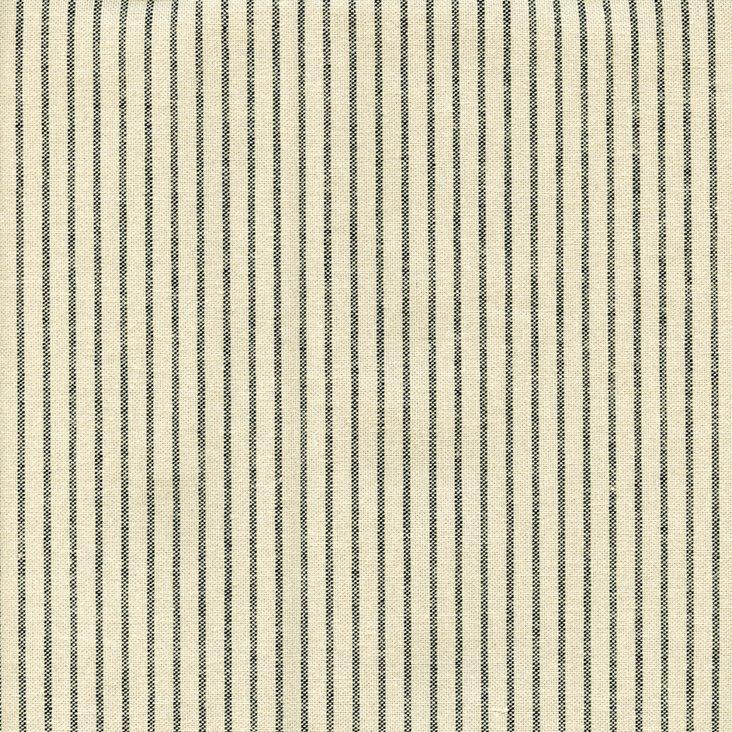 Mini Stripe Cotton Fabric, Black