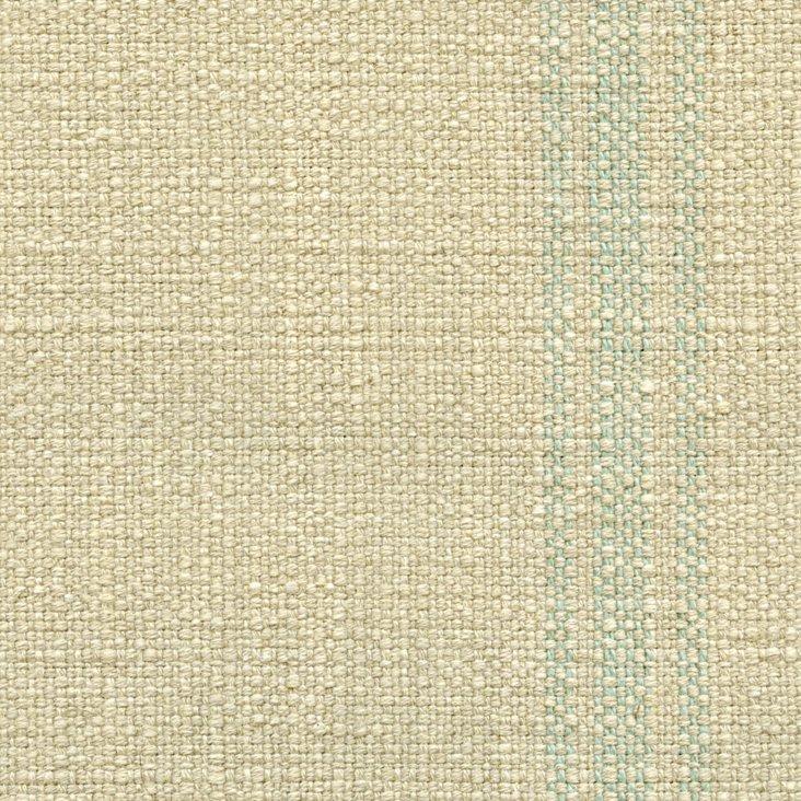 Stripe Linen/Cotton Fabric, Blue