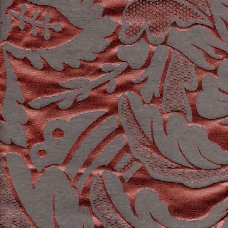 Oak Cotton/Silk Fabric, Red