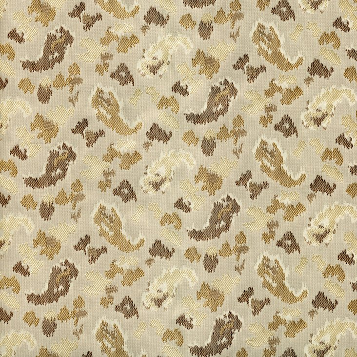 Bespeckled Silk Fabric, Brown
