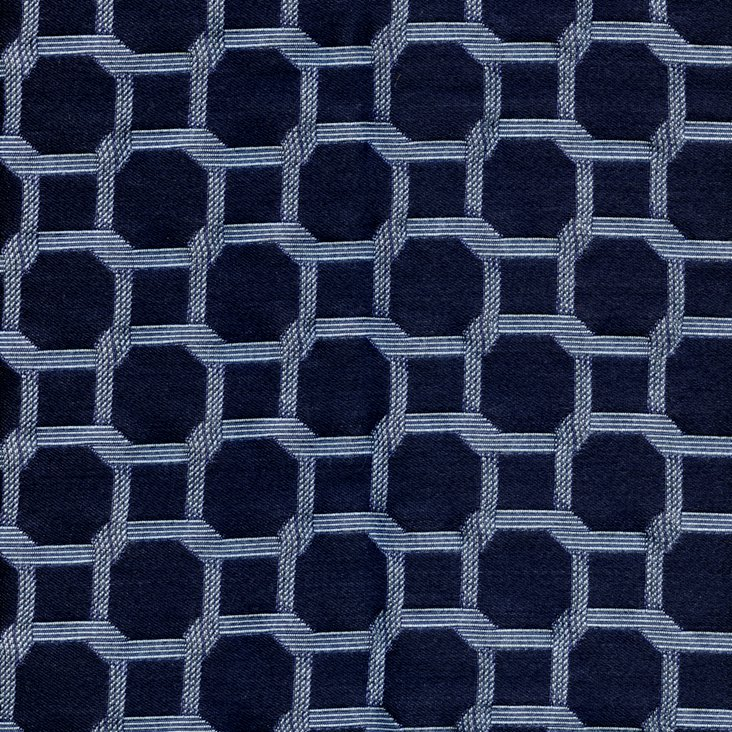 Netted Fabric, Blue