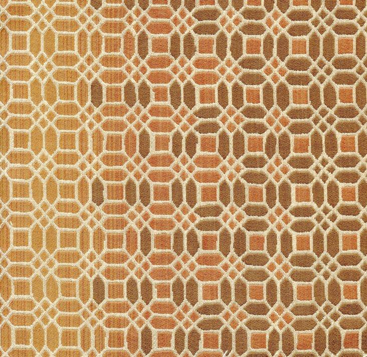 Trellis Ombré Fabric, Orange