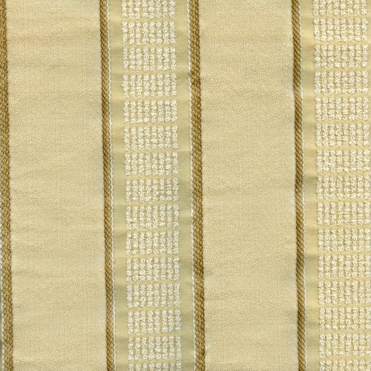 Dashed Stripe Fabric, Cream