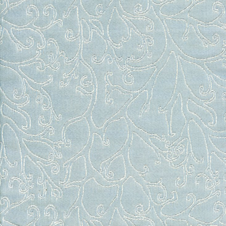 Blossoms Fabric, Blue