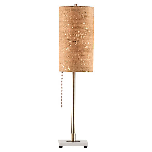 Lollipop Table Lamp, Weathered Brass