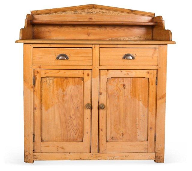 English Pine Dry Sink Cabinet