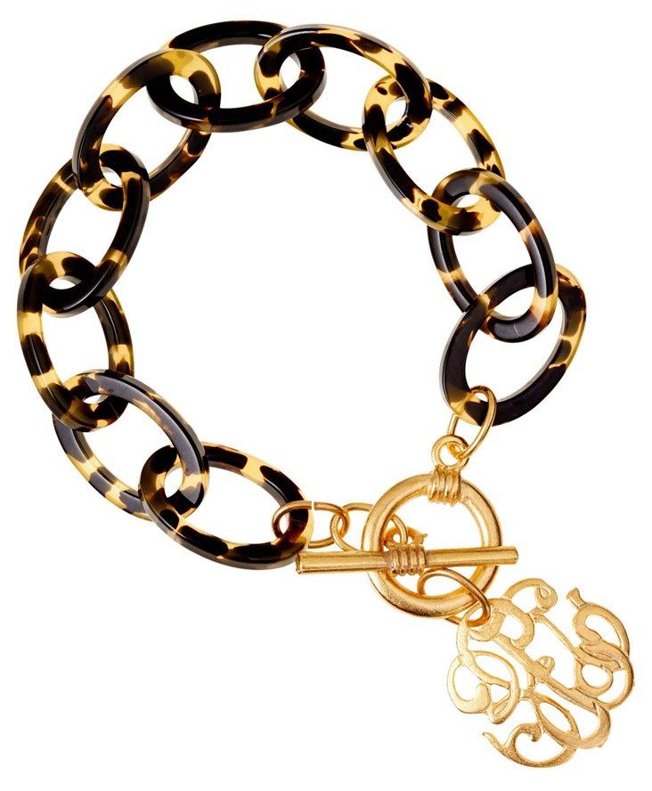 Tortoise Universal Monogram Bracelet