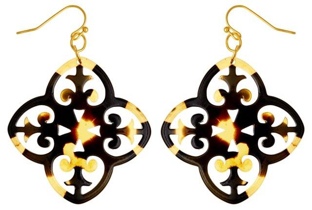 Tortoise Filigree Earrings