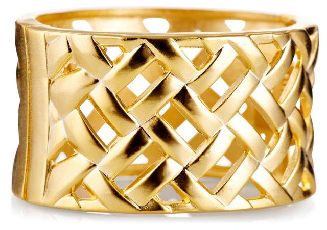 Hinged Basket-Weave Cuff
