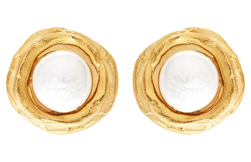Freshwater Pearl Post Earrings