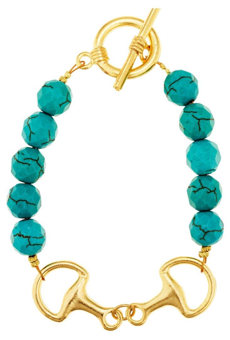 Turquoise & Bit Bracelet
