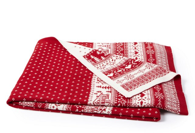 Hut Throw, Red