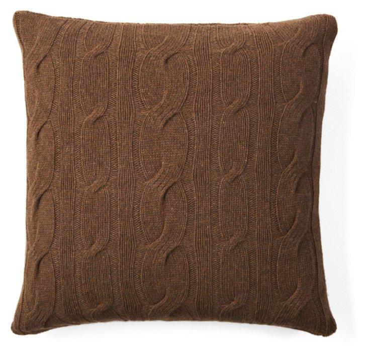 Lambswool 20x20 Pillow, Brown