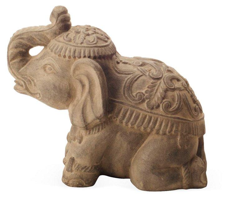 "8"" Volcanic Ash Elephant, Tan"