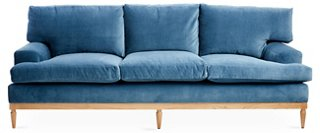 Attractive Sutton Sofa, Harbor Blue Velvet   One Kings Lane   Brands | One Kings Lane