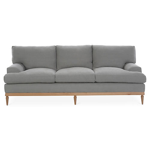 Sutton Sofa, Light Gray Linen