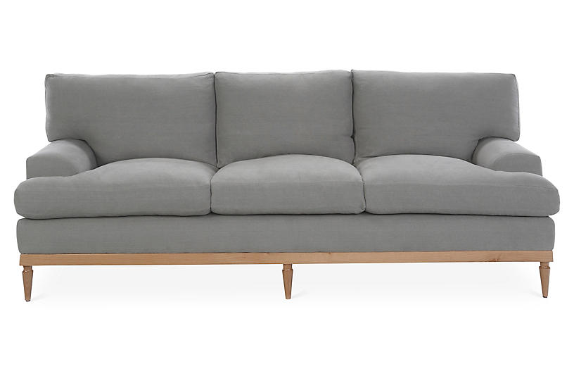 Sutton Sofa, Light Gray Linen