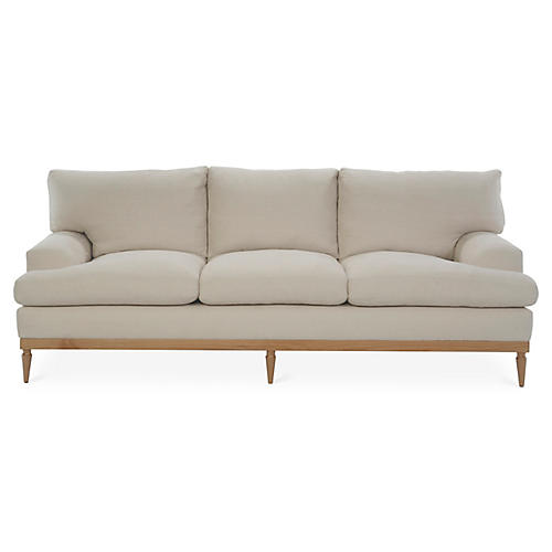 Sutton Sofa, Bisque Linen