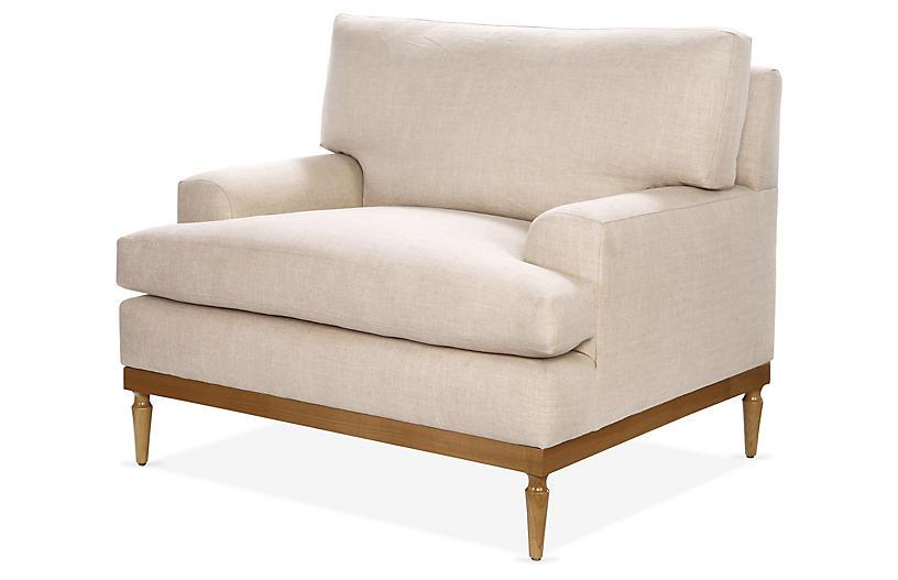 Sutton Club Chair, Blush Crypton