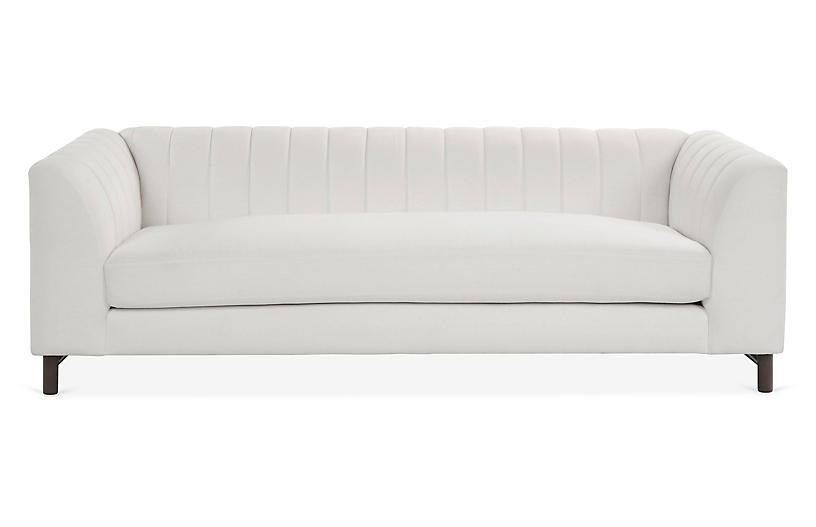 Alden Sofa, White Linen