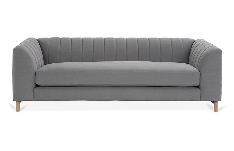 Alden Sofa, Light Gray Linen
