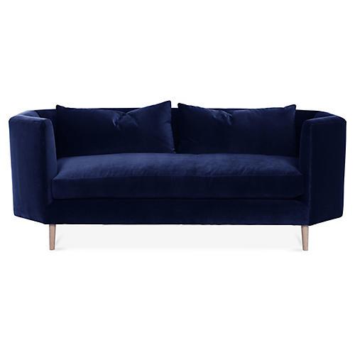 Blythe Sofa, Navy Velvet