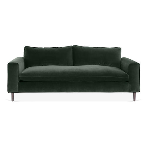 Rumsey Sofa, Forest Velvet