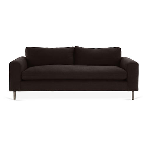 Rumsey Sofa, Black Linen