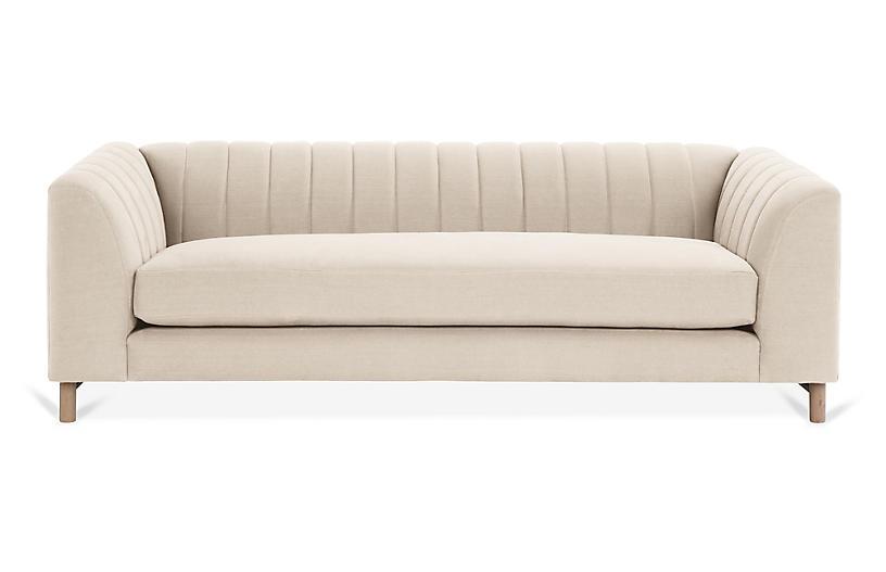 Alden Sofa, Bisque Linen