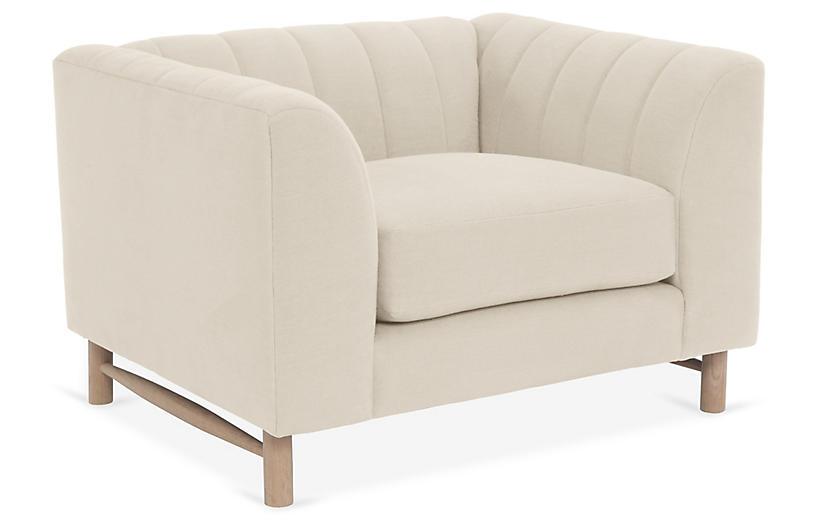Alden Club Chair, Bisque Linen