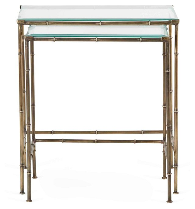 Brass Delaney Nesting Tables, Set of 2