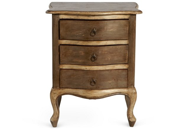 Darla Wood Chest, Distressed Gray