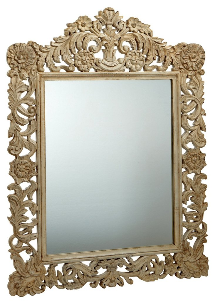 Carved Roma Mirror