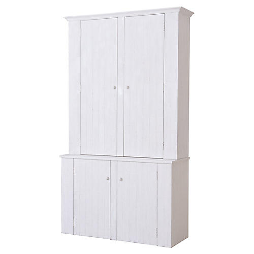 Blue Hills 2-Piece Cabinet, White