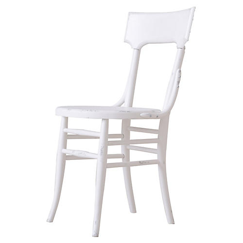Mayer Side Chair, Distressed Ivory