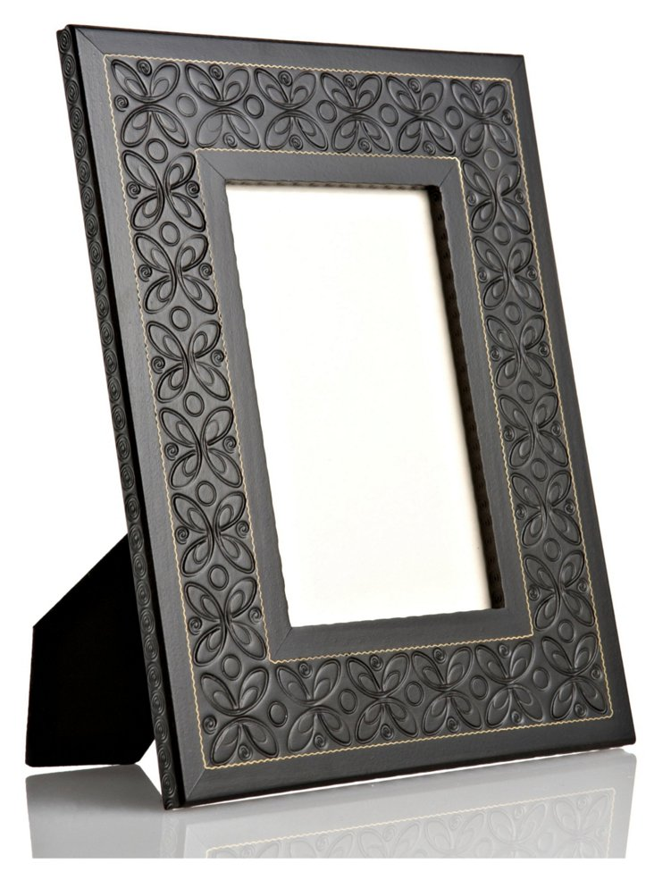 Hand-Carved Flower Frame, 5x7