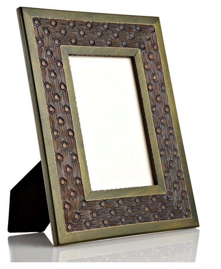 Hand-Carved Bordered Frame, 5x7