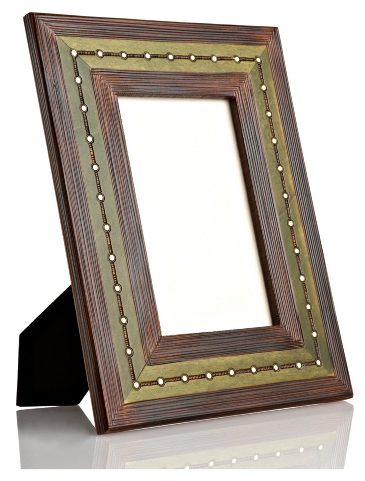 Hand-Carved Golden Dots Frame, 4x6