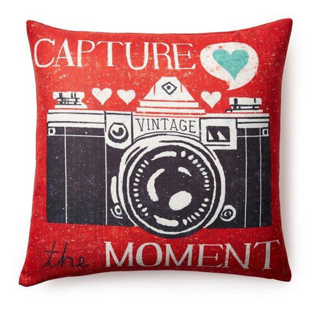 """Capture"" 20x20 Pillow, Red"