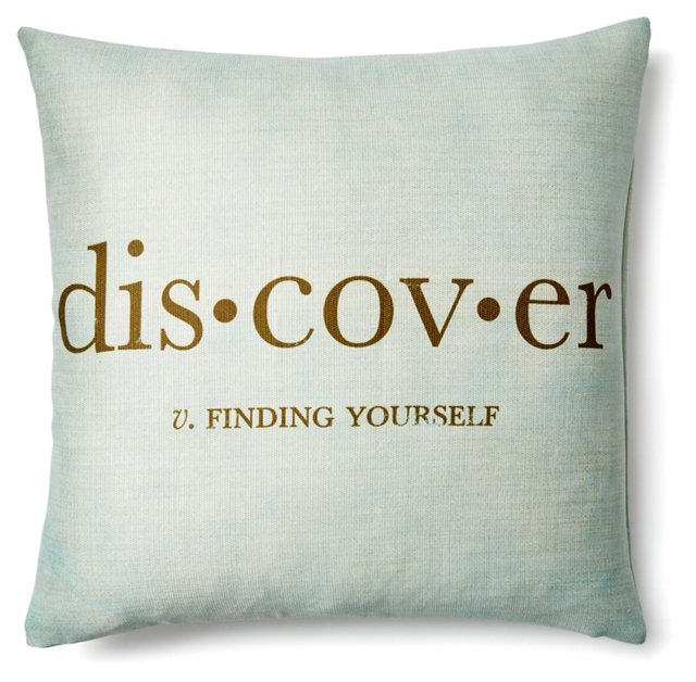 Discover 20x20 Pillow, Light Blue