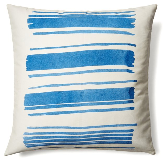 Dash 20x20 Cotton Pillow, Blue