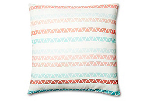 Spirit 20x20 Cotton Pillow, Coral
