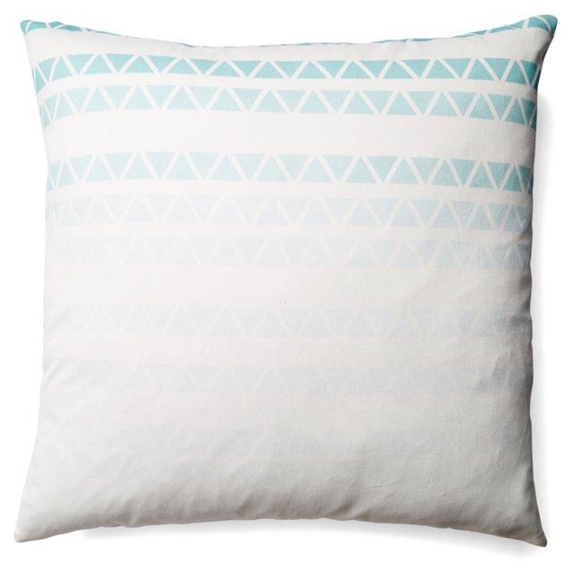 Modern 20x20 Cotton Pillow, Turquoise